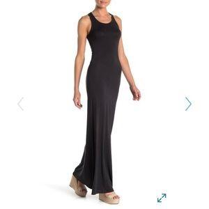 Go Couture Racerback Knit Maxi Dress